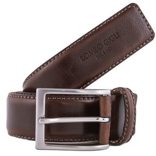 Romeo Gigli U284/35 MORO Brown Leather Adjustable Belt