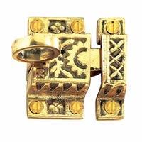Renovator's Supply Bright Brass Slide Latch, Cabinet or Cupboard, 2in Wide