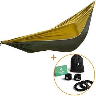 ODOLAND Camping Hammock Lightweight Portable Nylon Hammock for Beach Yard w/ Straps Steel Carabiners|https://ak1.ostkcdn.com/images/products/is/images/direct/1f1b3fdf058d4bd477ebc875ff4e148ccadde9bd/ODOLAND-Camping-Hammock-Lightweight-Portable-Nylon-Hammock-for-Beach-Yard-w--Straps-Steel-Carabiners.jpg?impolicy=medium