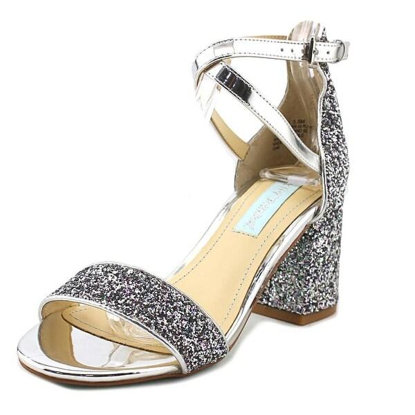 Betsey Johnson Lane Women Open Toe Synthetic Silver Sandals