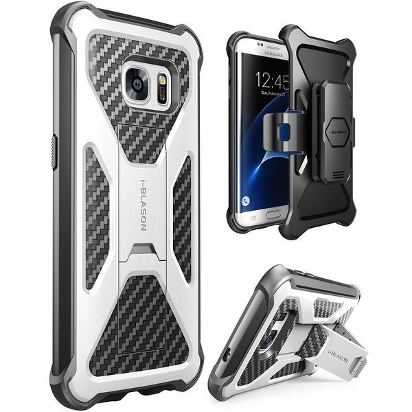 i-Blason Galaxy S7 Edge Prime Series Stand Case and Holster - White