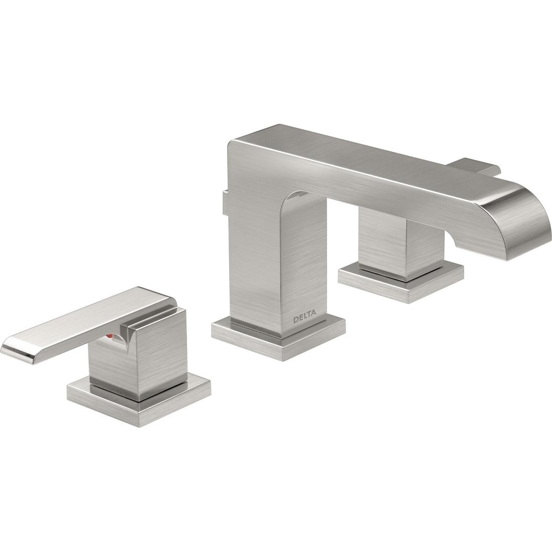Delta Bathroom Faucets.Shop Delta 3567 Mpu Dst Ara 1 2 Gpm Widespread Bathroom Faucet
