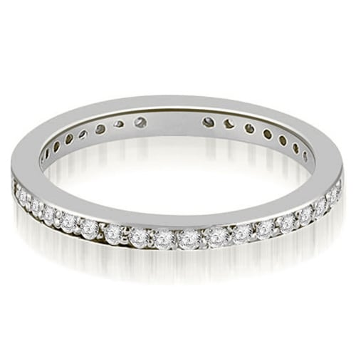 1.50 cttw. 14K White Gold Round Diamond Eternity Ring,HI,SI1-2