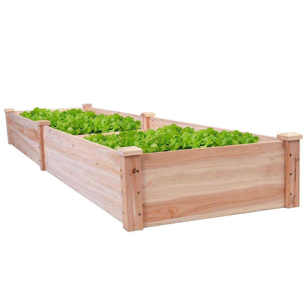 8 Ft X 2 Raised Garden Bed Planter