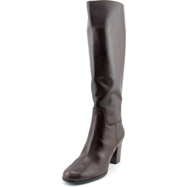 4aed496a117 Shop Cole Haan Placid Boot Women Round Toe Leather Brown Knee High ...