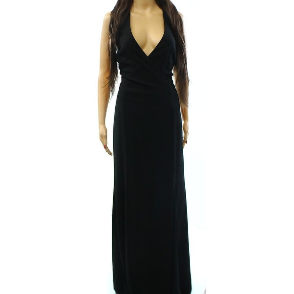 Shop Lauren Ralph Lauren New Black Women Size 16 Open Back V Neck