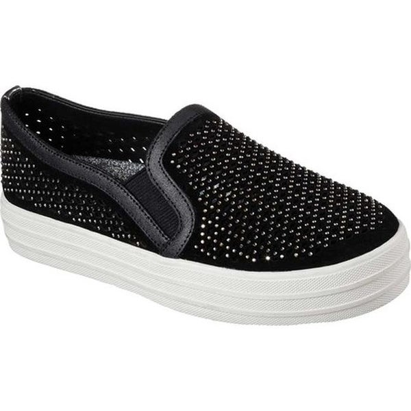 Shop Skechers Women's Double Up Diamond Girl Flatform Slip-On 15026056 Sneaker Black - - 15026056 Slip-On 45ca3d