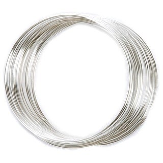 Memory Wire Large Bracelet .62mm .5oz-Silver Plated - 30 Coils - Silver