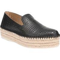 Franco Sarto Women's Elliot Platform Loafer Black Sheep Nappa Leather
