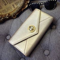 Lock The Envelope Wallet  Fashionable Ladies Purse Candy Color Small Hand Bag