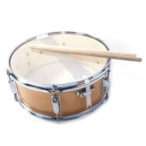 "14x5.5"" Professional Snare Drum Drumsticks Drum Key Strap Set"