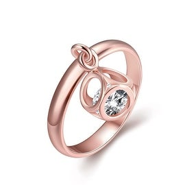 Rose Gold Dangling Jewel Ring