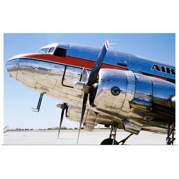 """Air Nostalgia DC3 on Essendon Airport tarmac"" Poster Print"