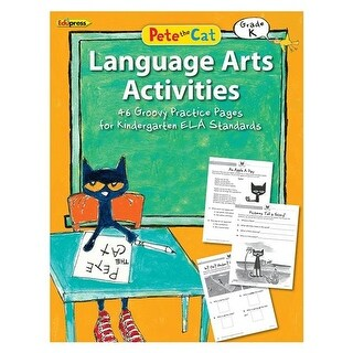 Edupress EP-3513 Pete The Cat Language Arts Workbook Grade K