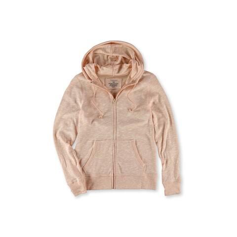 Sonoma Life+Style Womens Slubbed Zip Up Hoodie Sweatshirt