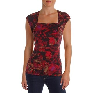 Kasper Womens Blouse Printed Jersey