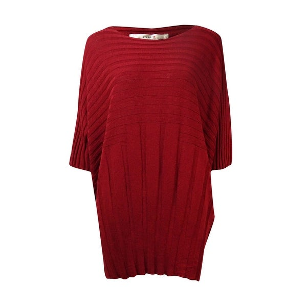 9531b59f3b Shop Studio M Women s Ribbed Boat Neck Dolman Sweater - Garnet - On Sale -  Free Shipping On Orders Over  45 - Overstock.com - 14814918
