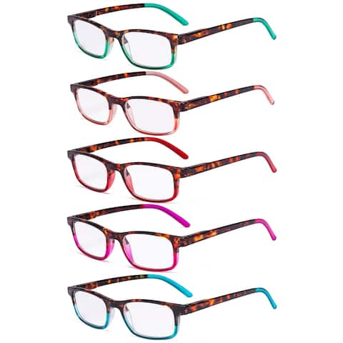 Eyekepper 5 Pack Ladies Reading Glasses - Stylish Look Clear Vision