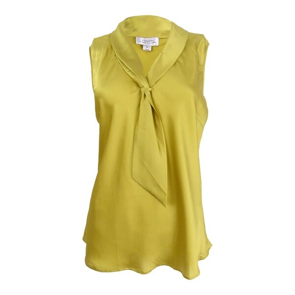 aa21a152a Shop Tahari ASL Women's Sleeveless Charmeuse Tie-Neck Blouse - Free ...