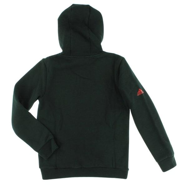 Shop Adidas Boys D Rose Logo Hoodie Black BlackRed Free
