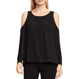 Vince Camuto Womens Peasant Top Cold Shoulder Hi-Low