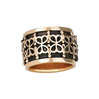 Women's Bronze Spin-Band Ring - Floral Design (4 options available)
