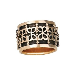 Women's Bronze Spin-Band Ring - Floral Design