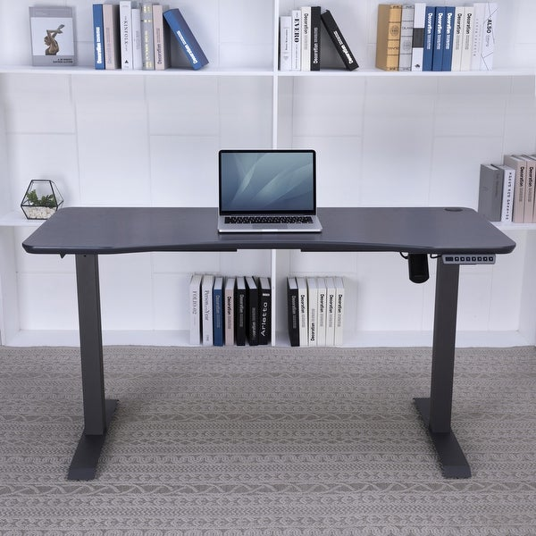 55-in Electric Height-adjustable Standing Desk. Opens flyout.