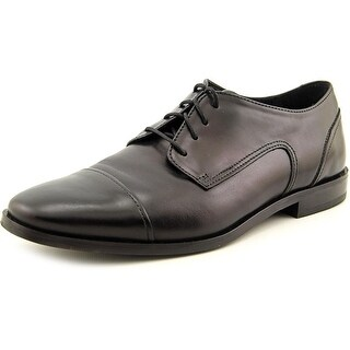 Florsheim Jet Cap Ox Men Round Toe Leather Black Oxford