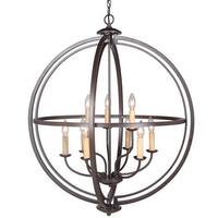 "Craftmade 40139 Berkeley 9 Light 30"" Wide 2 Tier Cage Chandelier"