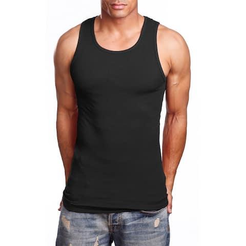 NE PEOPLE Men's Comfy Ribbed Knit A-Shirts Undershirts Tank Tops S-5XL [NEMT105]