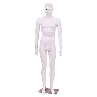 Costway Male Mannequin Plastic Full Body Dress Form Display