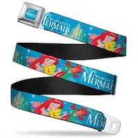 The Little Mermaid Logo Full Color Turquoise White The Little Mermaid Seatbelt Belt