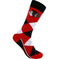 Chicago Blackhawks Argyle Lineup Crew Dress Socks