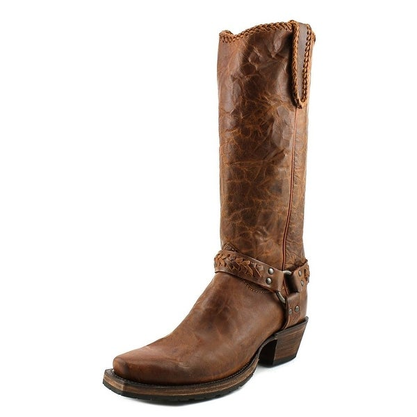 Lucchese Harness Tall Boot M46 Women Pointed Toe Leather Brown Western Boot