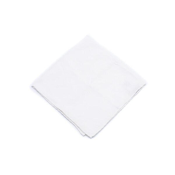 294f6d27 Shop Brunello Cucinelli Men's Solid White Cotton Pocket Square ...