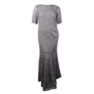 Xscape Women's Plus Size Lace Shimmer Mermaid Gown