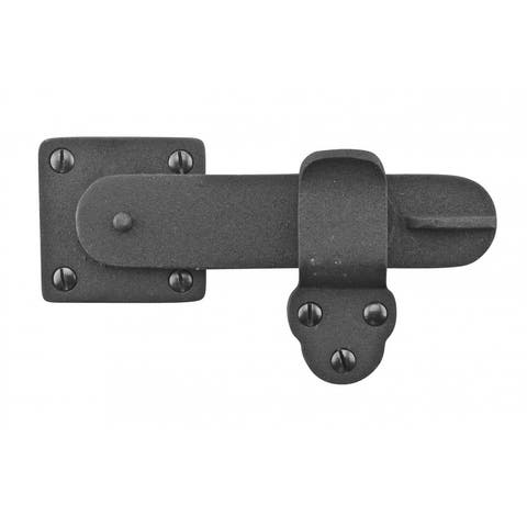 Renovator's Supply Gate Latch Black Wrought Iron 5 3/4 by 3 3/8