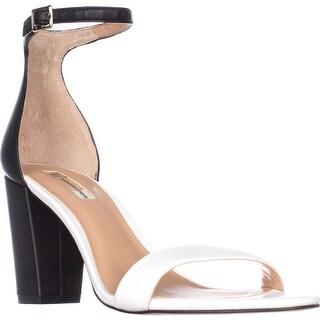 I35 Kivah Ankle Strap Dress Sandals, White/Black