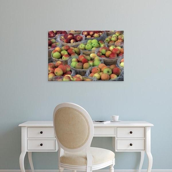 Easy Art Prints Adam Jones's 'New York State Macintosh Apples In Baskets' Premium Canvas Art