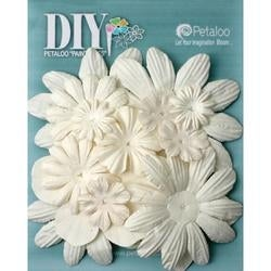 """White - Diy Paintables Mulberry Flower Layers 2"""" - 3.5"""" 16/Pkg"""