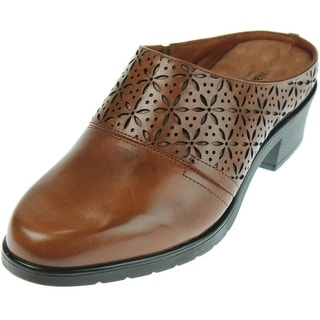 Walking Cradles Womens Claire Leather Perforated Mules