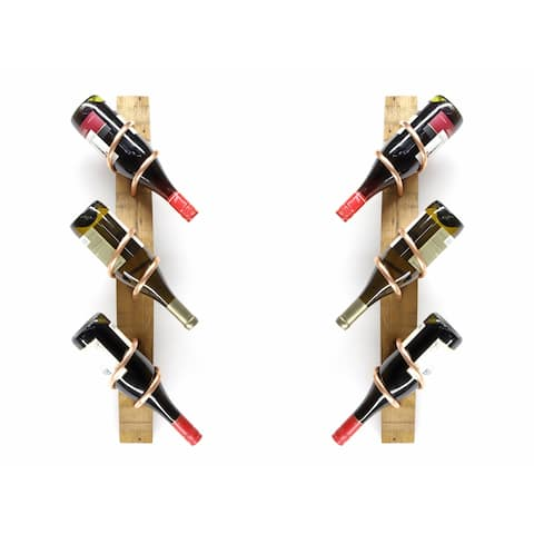 Handmade Wine Stave Wine Rack Set (USA)