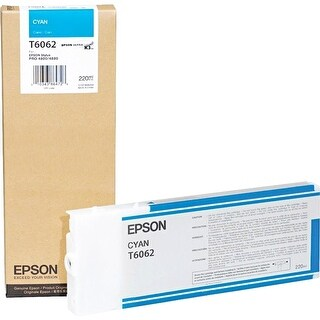 Epson UltraChrome K3 Ink Cartridge - 220ml Cyan (T606200) - yes