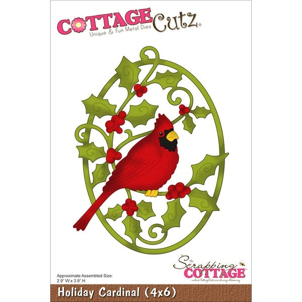 "CottageCutz Die-Holiday Cardinal 2.9""X3.9"""