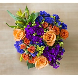 KaBloom: Bright Blossoms Bouquet with Vase