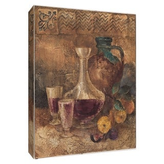 "PTM Images 9-154492  PTM Canvas Collection 10"" x 8"" - ""Villa Wine I"" Giclee Wine Art Print on Canvas"