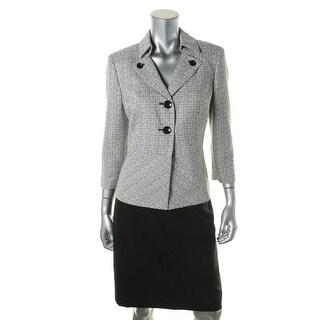 Le Suit Womens Petites English Garden Textured 2PC Skirt Suit