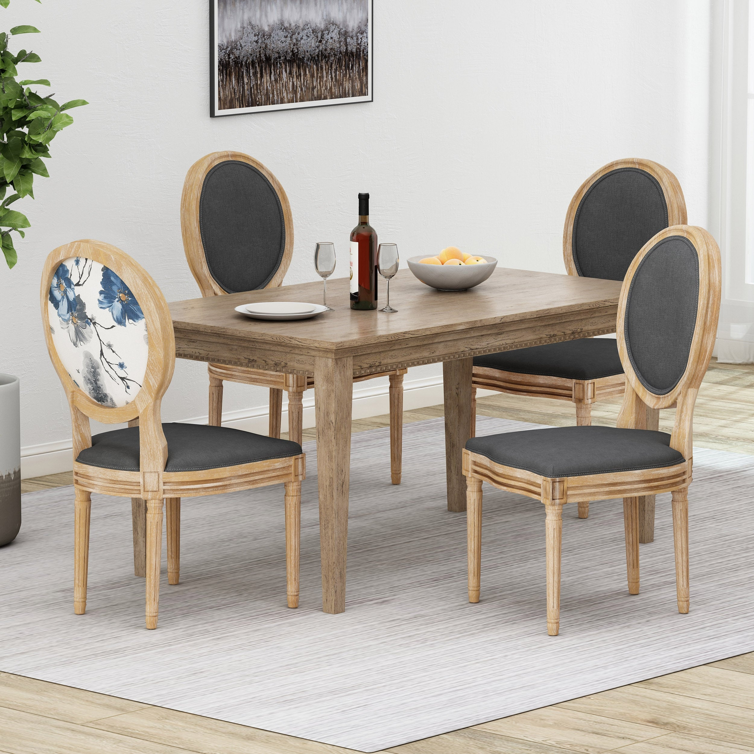 Phinnaeus French Country Dining Chairs Set Of 4 By Christopher Knight Home Overstock 31294586