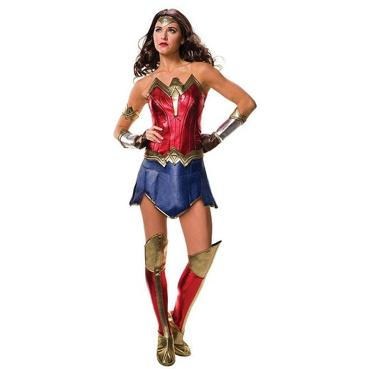 Justice League Wonder Woman Adult Costume - Red